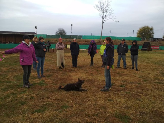 Renate Oeltze obedience workshop